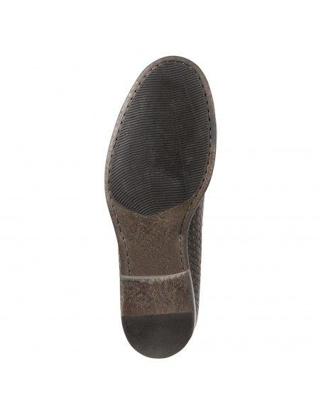 Antica Cuoieria - Mocassino marrone pelle intrecciato per uomo | 22040 -4-v84
