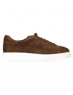 Sneakers marrone basse pelle