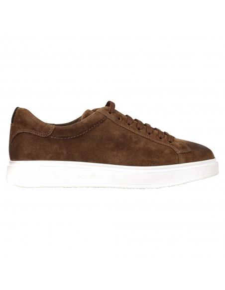 Antica Cuoieria - Sneakers marrone basse pelle per uomo | 22202-t-v55