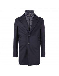 Cappotto blu con pettorina