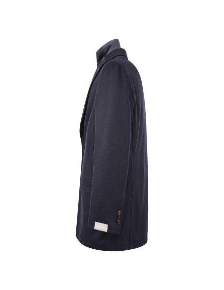 Paoloni - Cappotto blu con pettorina per uomo   2911c247 201623