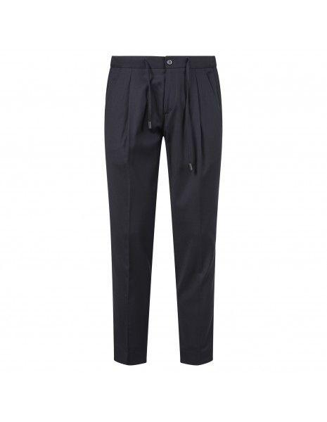 Havana & Co - Pantalone blu con molla e peance per uomo   h7927b t8019e 50