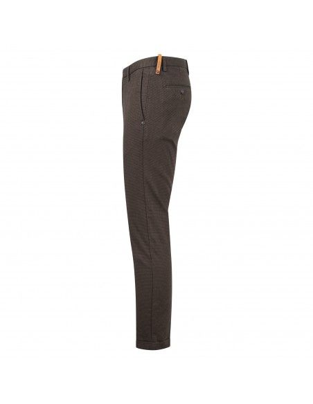 AT.P.CO - Pantalone marrone tasca a filo microfantasia per uomo | a211sasa45