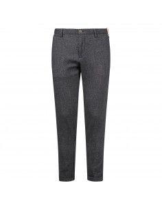 Pantalone nero tasca a filo armaturato
