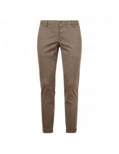 Pantalone marrone tasca a filo