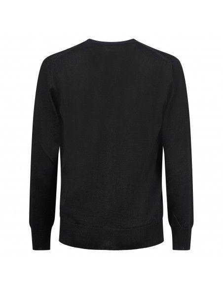 Officina36 - Cardigan nero scollo V per uomo   culm56 nero