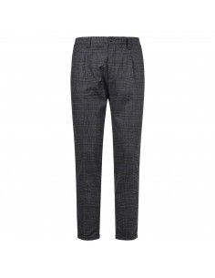 Pantalone antracite check tasca a filo