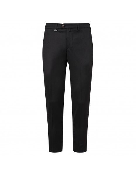 Barbati - Pantalone nero tasca a filo per uomo | 220592 00006