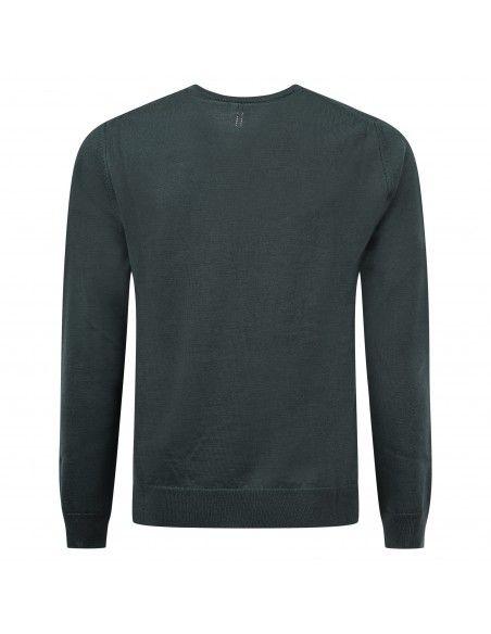 +39 Masq - Maglione girocollo verde per uomo | masq9000-14-00 450
