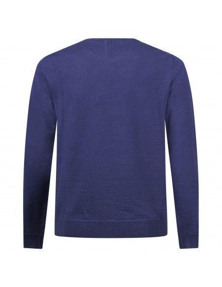+39 Masq - Maglione girocollo azzurro per uomo   masq9000-14-00 620