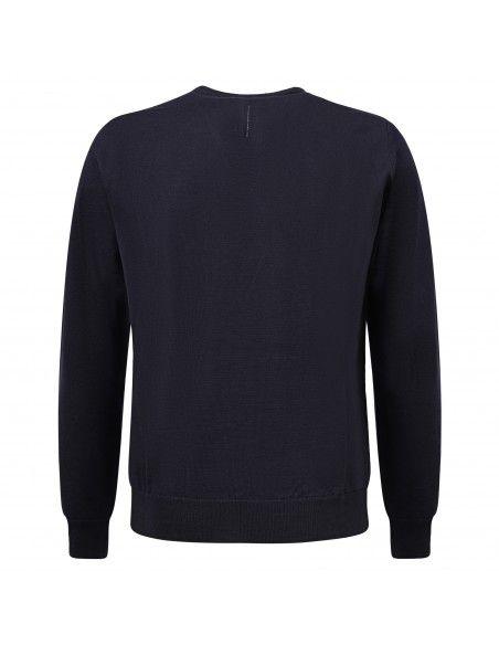 +39 Masq - Maglione girocollo blu per uomo | masq9000-14-00 650