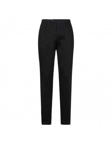 Luca Bertelli - Pantalone nero tasca a filo per uomo | p1701 louis