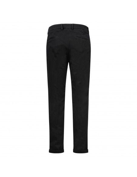Luca Bertelli - Pantalone nero tasca a filo per uomo | p1904 tom