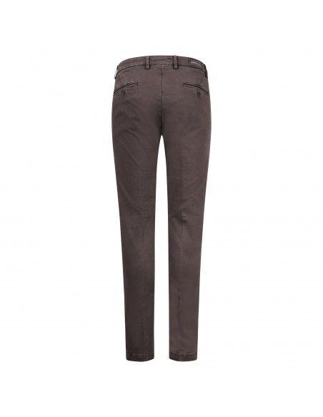 Luca Bertelli - Pantalone marrone tasca a filo per uomo   p1700 skin