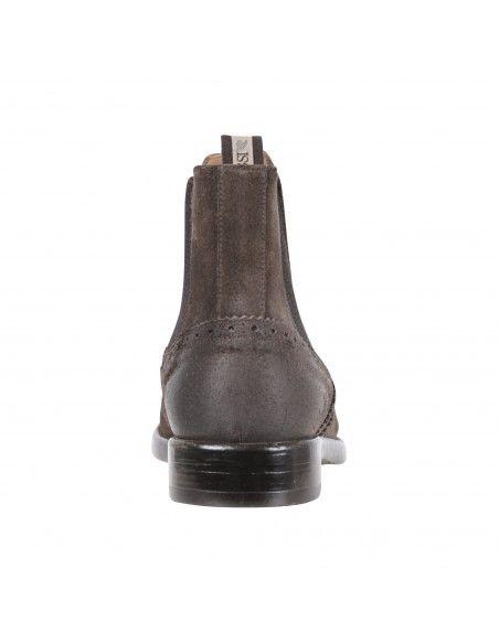 Rossi - Stivaletto marrone camoscio con elastico per uomo   8111p marrone