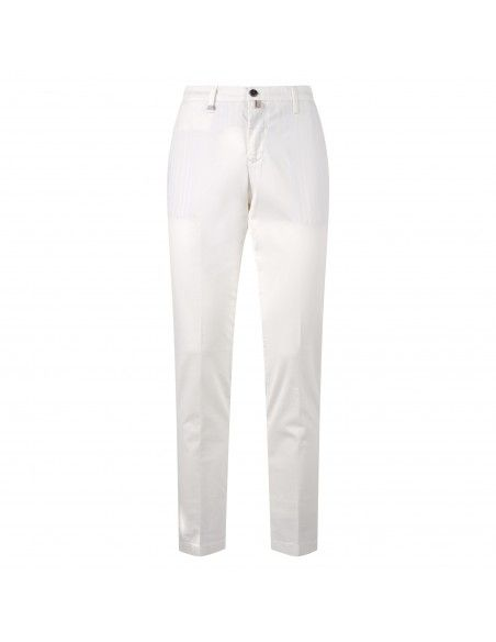 Barbati - Pantalone bianco tasca a filo per uomo | 220032 00110