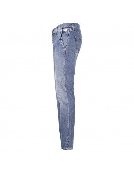 Roy Roger's - Jeans denim tasca filo slim per uomo | rru006d0210483