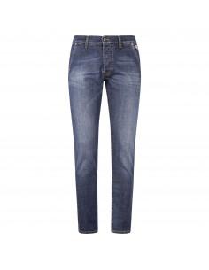 Jeans denim tasca filo slim