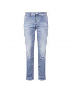 Jeans denim tasca a filo slim