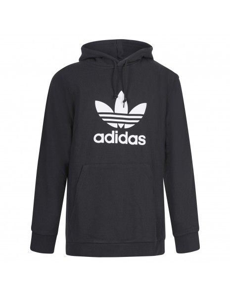 Adidas Originals - Felpa nera con cappuccio e logo per uomo | dt7964