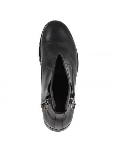 Jp/David - Stivaletto nero con zip laterali per uomo | 44431/4 nero
