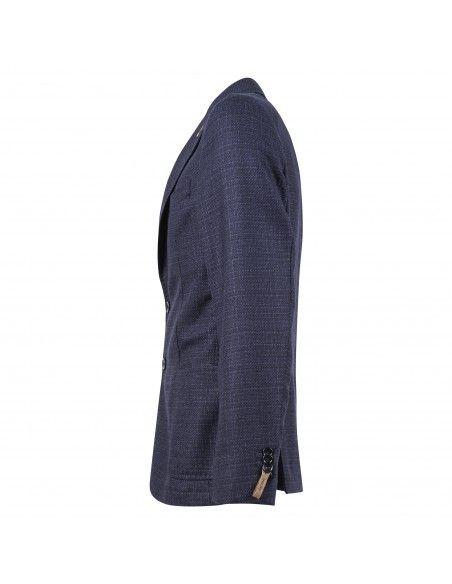 Paoloni - Giacca blu microlavorata per uomo | 2511g517 181536 88