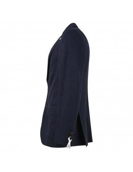 Sartoria Latorre - Giacca blu armaturata per uomo   formello je1012/1