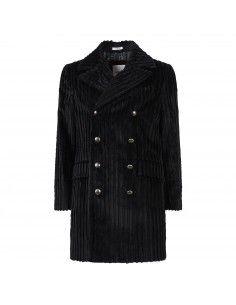 Cappotto nero doppiopetto