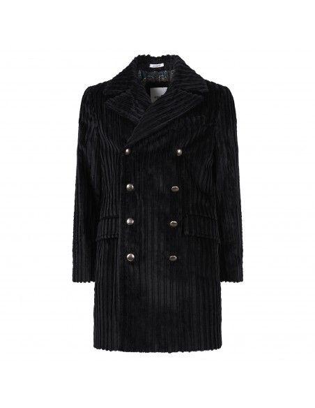 Officina36 - Cappotto nero doppiopetto per uomo | 0403307343 nero