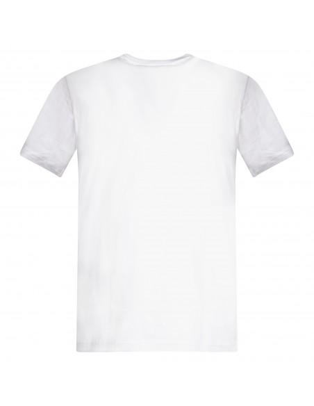 Tommy Jeans - T-shirt bianca manica corta con stampa logo per uomo |