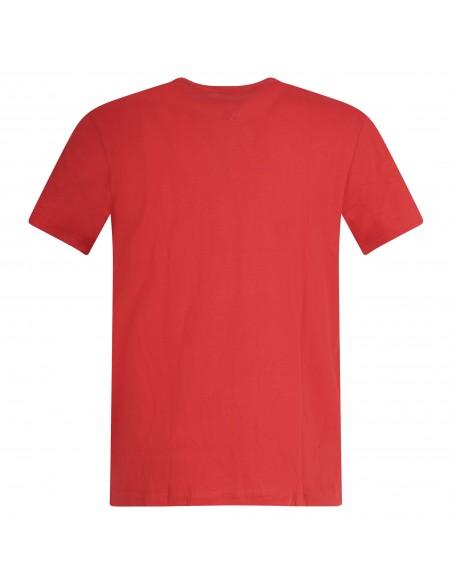 Tommy Jeans - T-shirt rossa manica corta con stampa logo per uomo |