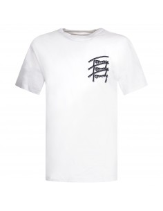 T-shirt bianca manica corta con stampa logo