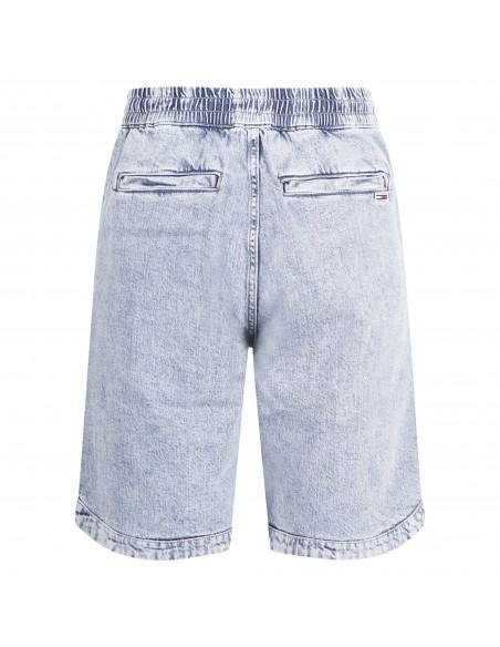 Tommy Jeans - Bermuda jeans denim chiaro con ricamo logo laterale per uomo |