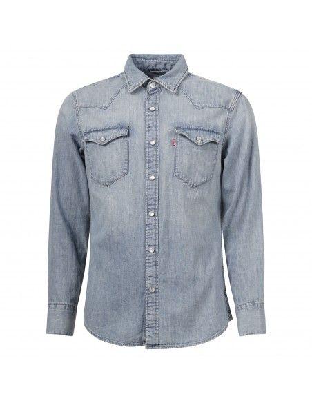 Levi's - Camicia jeans denim chiaro con tasche sul petto per uomo | 85744-0001
