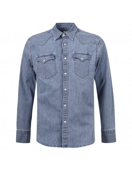 Levi's - Camicia jeans denim medio con tasche sul petto per uomo   85744-0024