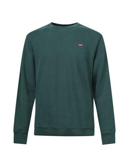 Levi's - Felpa verde girocollo con patch logo per uomo | 35909-0007