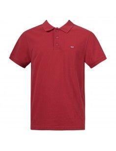 Polo rossa manica corta con patch logo