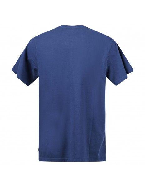 Levi's - T-shirt azzurra manica corta con stampa logo per uomo | 16143-0127