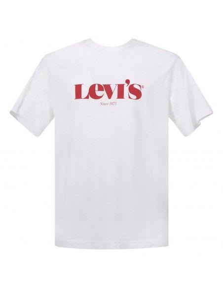 Levi's - T-shirt bianca manica corta con stampa logo per uomo   16143-0125