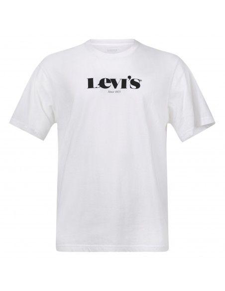 Levi's - T-shirt bianca manica corta con stampa logo per uomo | 16143-0083