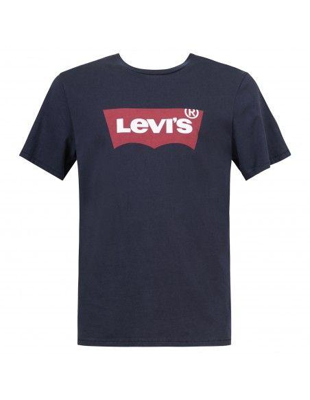 Levi's - T-shirt blu manica corta con stampa logo per uomo | 17783-0139