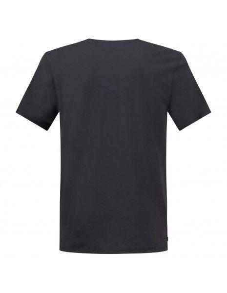 Levi's - T-shirt nera manica corta con stampa logo per uomo | 17783-0137