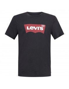 T-shirt nera manica corta con stampa logo