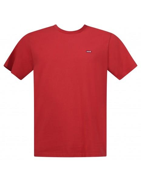 Levi's - T-shirt rossa manica corta con patch logo per uomo | 56605-0067