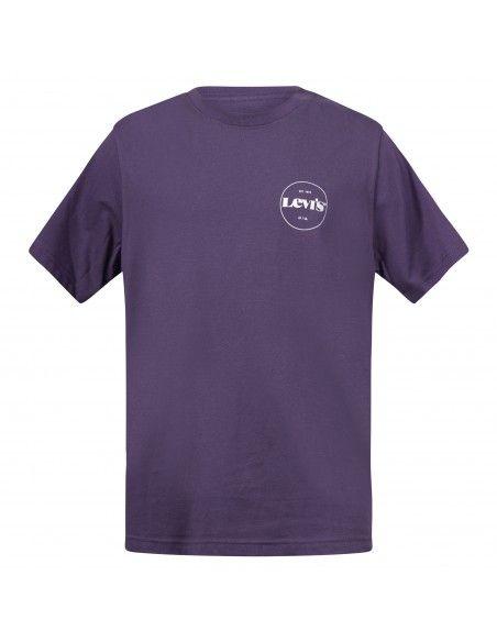 Levi's - T-shirt viola manica corta con stampa logo per uomo   16143-0120