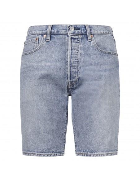 Levi's - Bermuda jeans 501™ 5 tasche denim chiaro per uomo | 36512-0102
