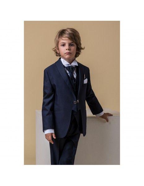 Etienne chic - Abito tight blu per bambino per uomo  