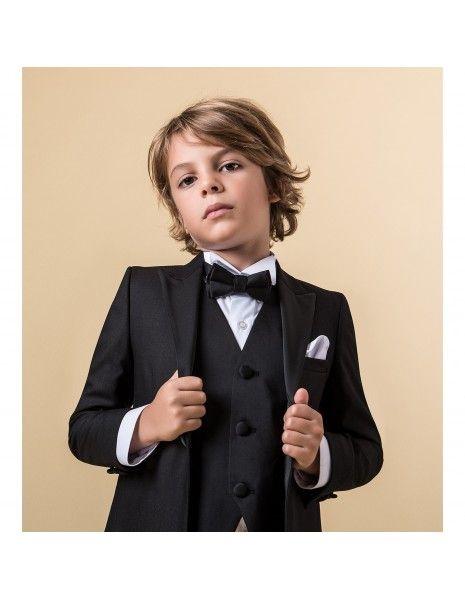 Etienne chic - Abito smoking nero per bambino per uomo |