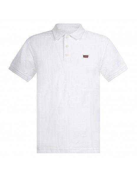 Levi's - Polo bianca manica corta con patch logo per uomo | 22401-0001