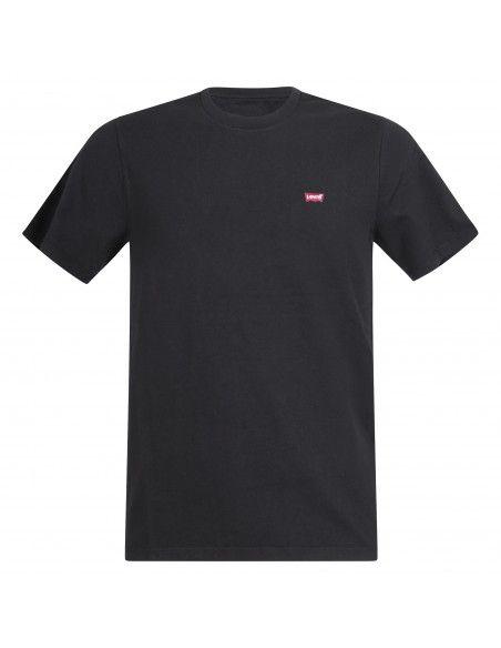 Levi's - T-shirt nera manica corta con patch logo per uomo | 56605-0009